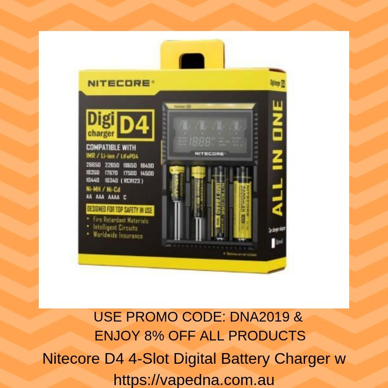 Nitecore D4 4Slot Digital Battery Charger w/ LCD Display