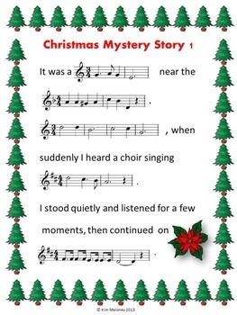 Christmas Mystery Stories For Music Students Christmas Music Activities Elementary Music Christmas Christmas Music
