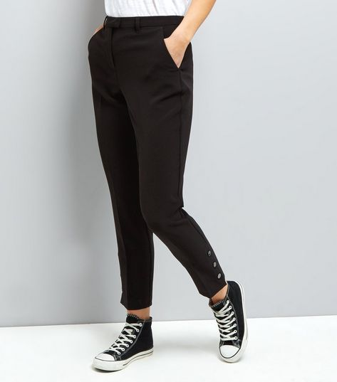 Womens Poppper Hem Trousers New Look BQsjKy