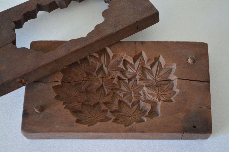 Kashigata sweets mold hand carved antique japanese