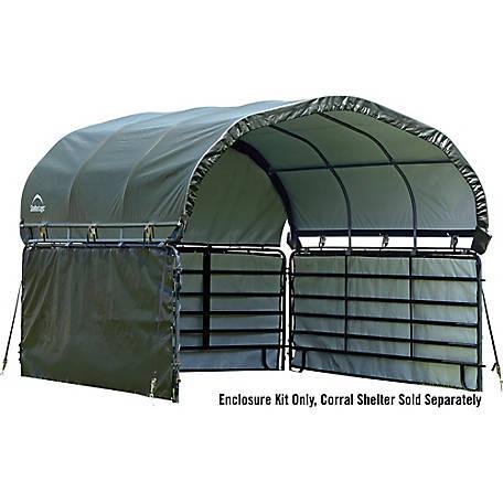 Shelterlogic Enclosure Kit For Corral Shelter 12 X 12 Ft At Tractor Supply Co Livestock Shelter Horse Shelter Barn Style Shed