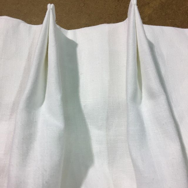 Perfect top tack pleats in our 100% Linen in White!   Buy yours online today! http://www.qdesigncentre.com/store/product/40-colour-available