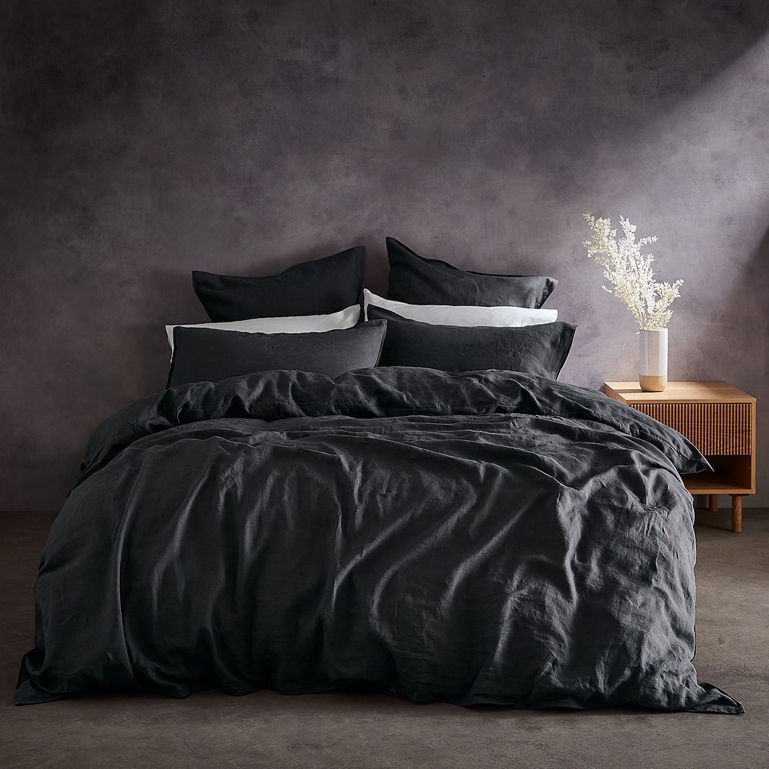 Lilah Linen Quilt Cover Set Charcoal Target Australia In 2020 Quilt Cover Sets Quilt Cover Linen Quilt