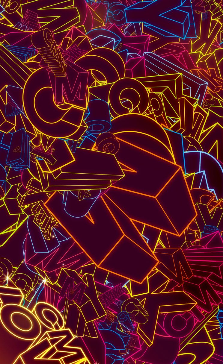 Color Lovers. #neon #glow iPhone wallpaper - @mobile9 ...