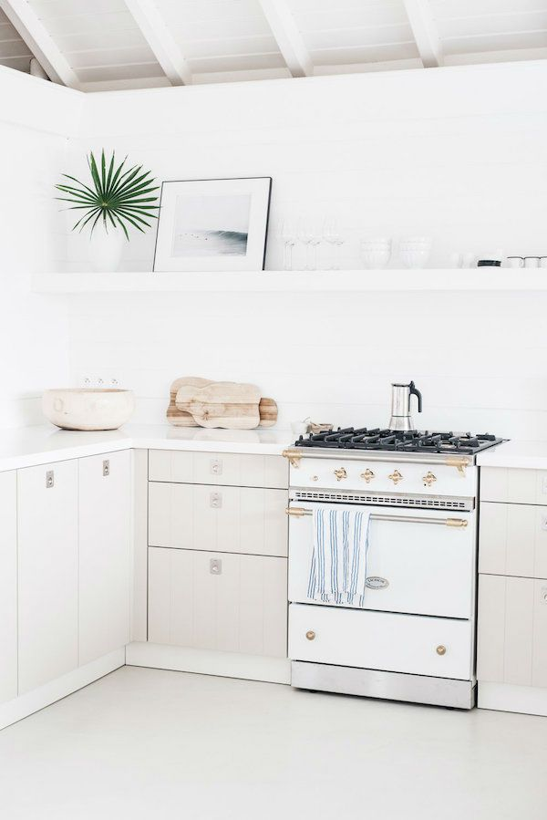All White Vacation Home | Vacation, Kitchens and White cabinets