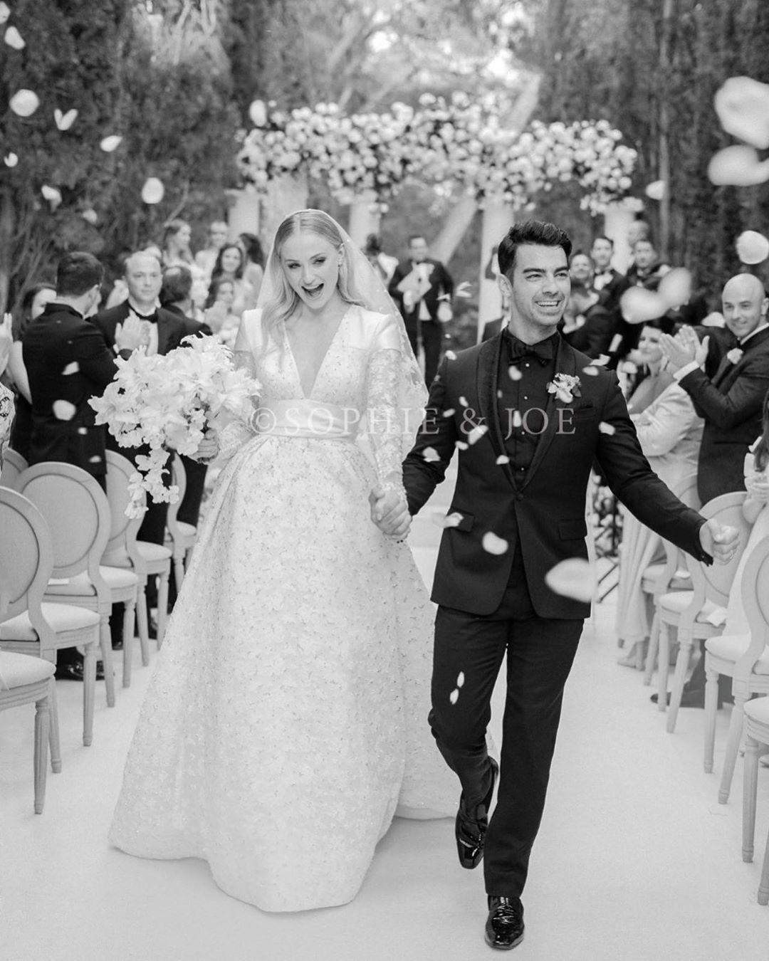 "Photo of Sophie Turner on Instagram: ""Mr and Mrs Jonas Photo by @corbingurkin"""