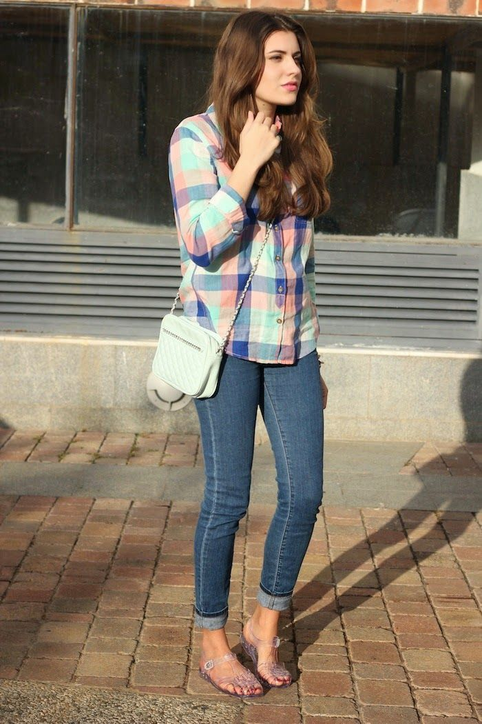 Look Cangrejeras De Goma Jelly Shoes Outfit Outfits