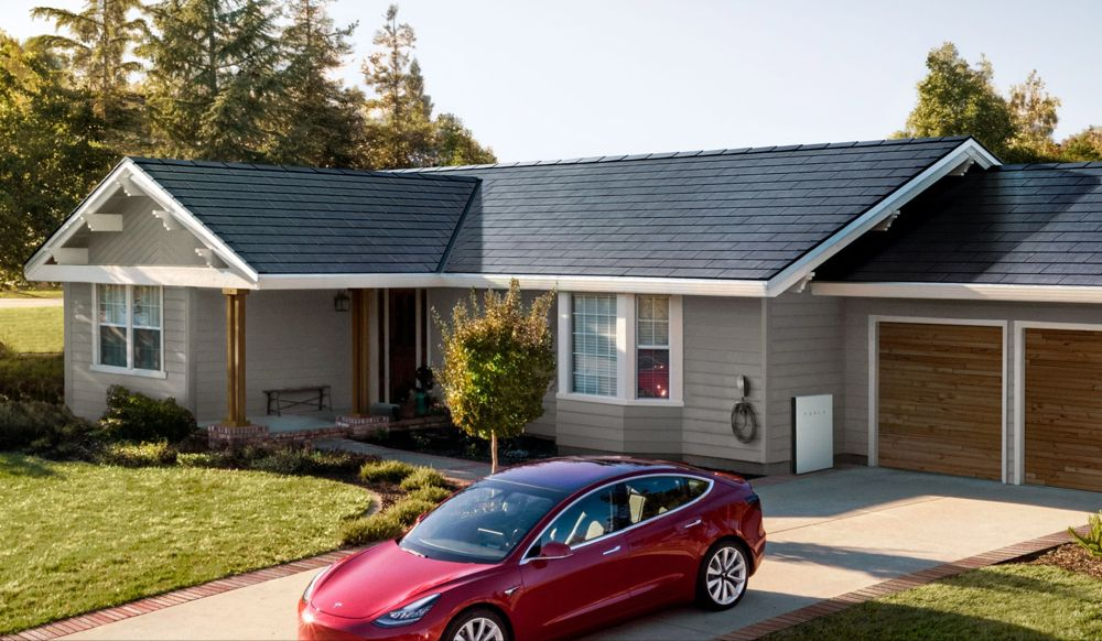 Tesla Unveils Its Easier To Install Solar Roof Engadget Solar Roof Tiles Tesla Solar Roof Solar Panels Roof