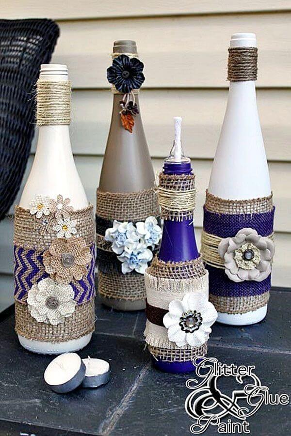 Empty Wine Bottle Decoration Ideas Inspiration 60 Amazing Repurposed DIY Wine Bottle Crafts That Will Dazzle Your