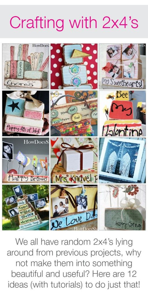 Crafting with 2x4's! 12 Ideas with Tutorials! #2x4s #howdoesshe