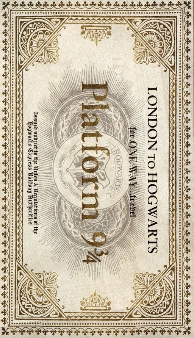 picture about Hogwarts Express Ticket Printable titled I incorporate this Harry Potter Harry potter printables, Harry