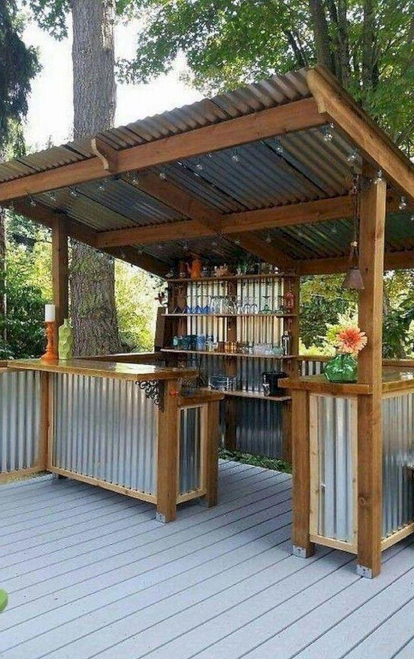 50 Stunning Kitchen Design Ideas For Your Outdoor Kitchen Backyard Gazebo Backyard Patio Backyard Patio Designs
