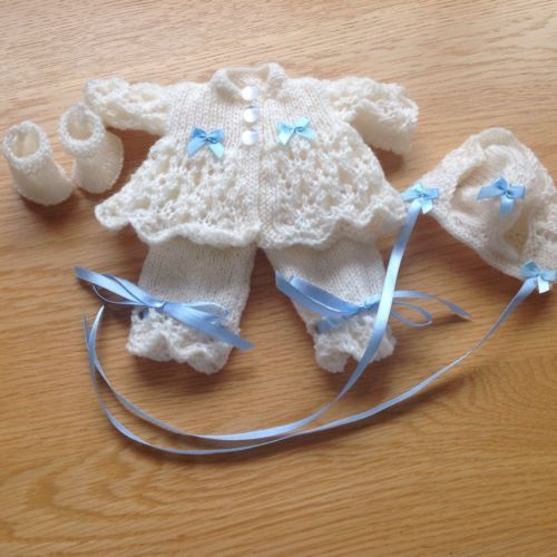 Hand Knitted Dolls Clothes Baby Reborn Ooak Emmy 9 10 Dolls
