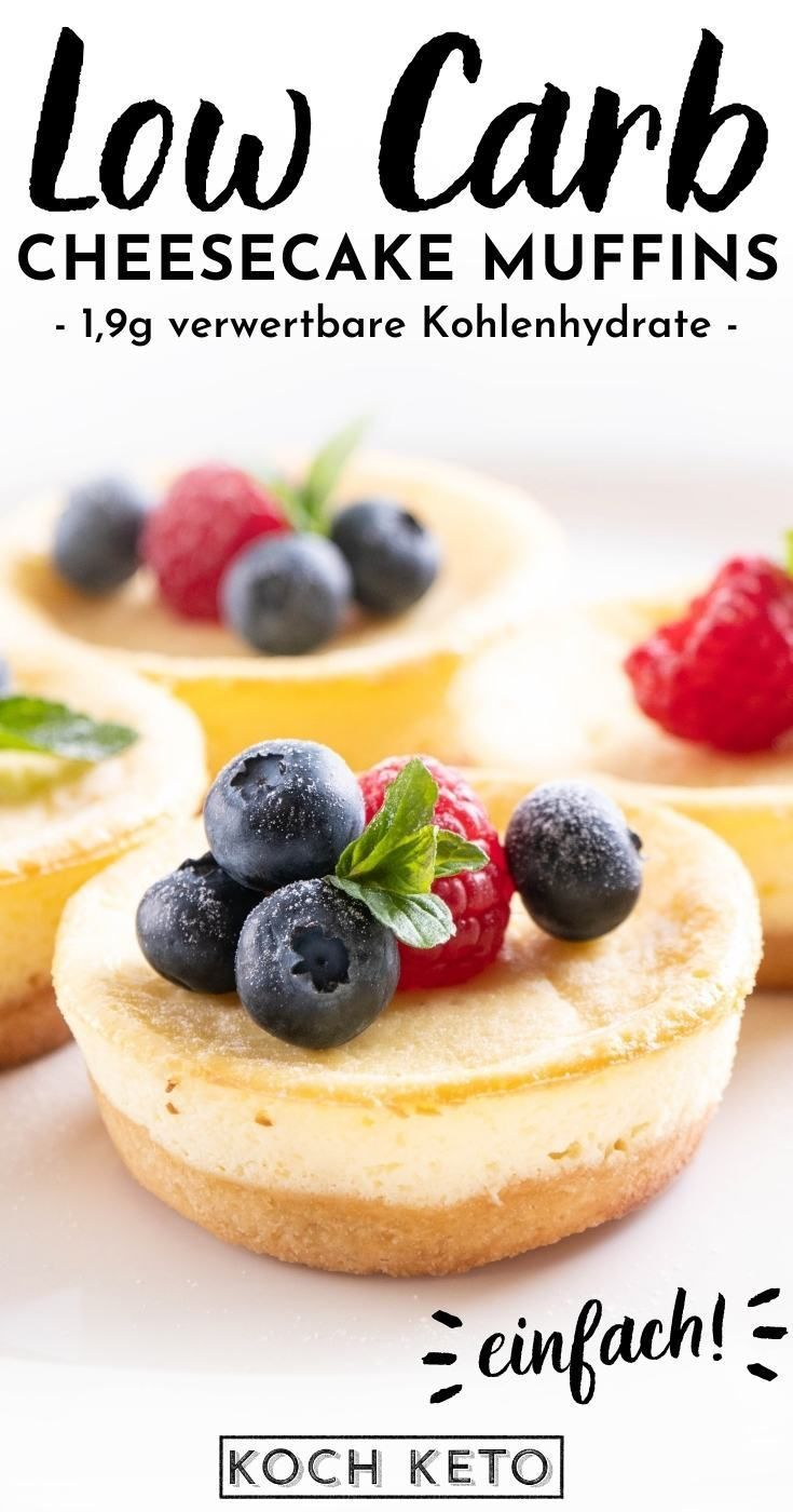 Einfache Low Carb Cheesecake Muffins