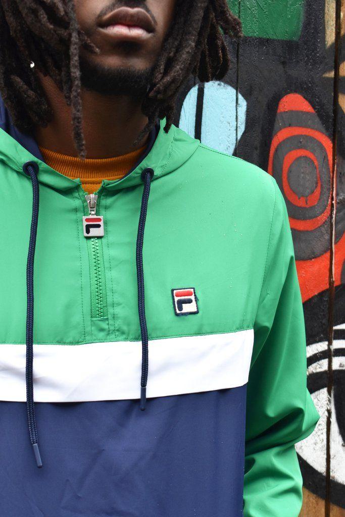 Fila Men's Cipolla Kelly Green Yoke Jacket | Jackets