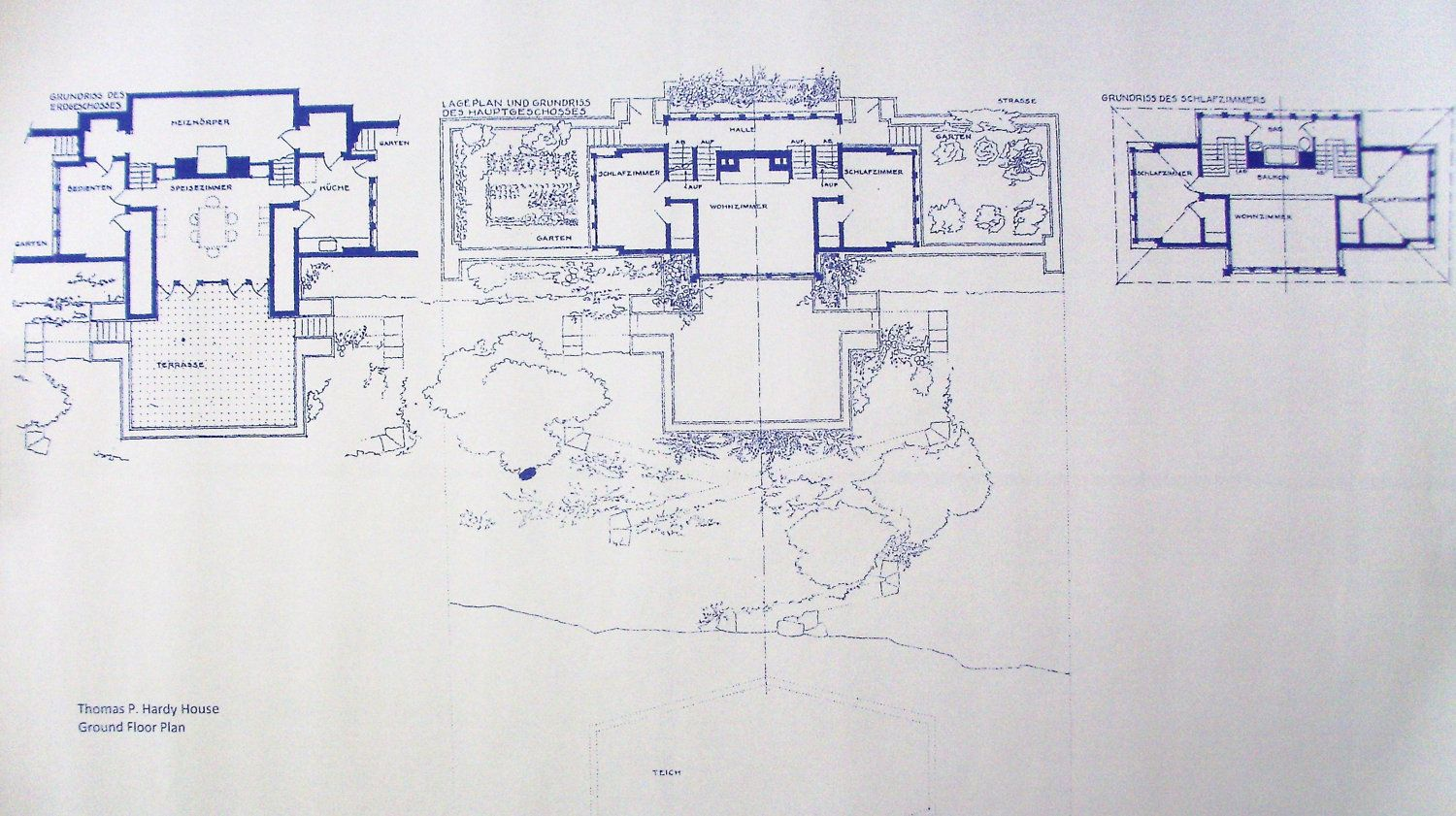 Frank lloyd wright casa r stica blueprint por Frank lloyd wright floor plan