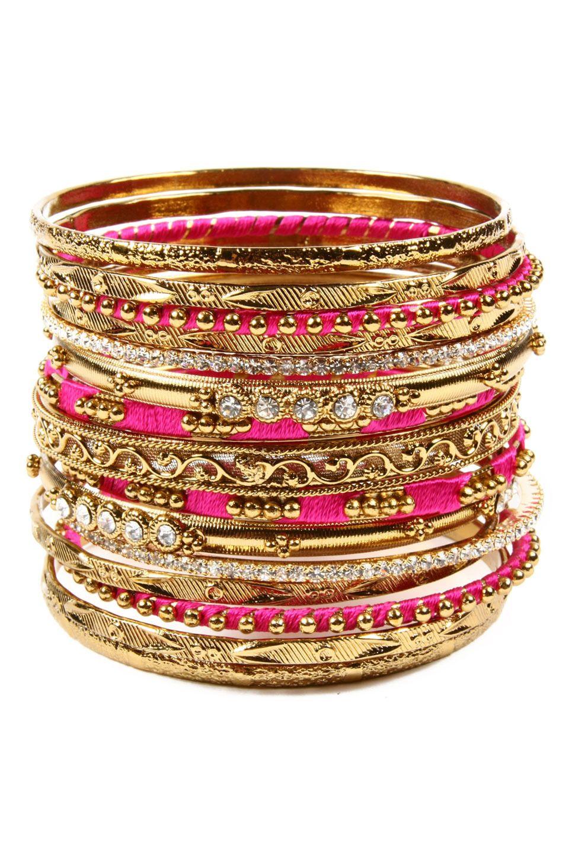 Fuchsia u gold bangles amrita singh everything indian