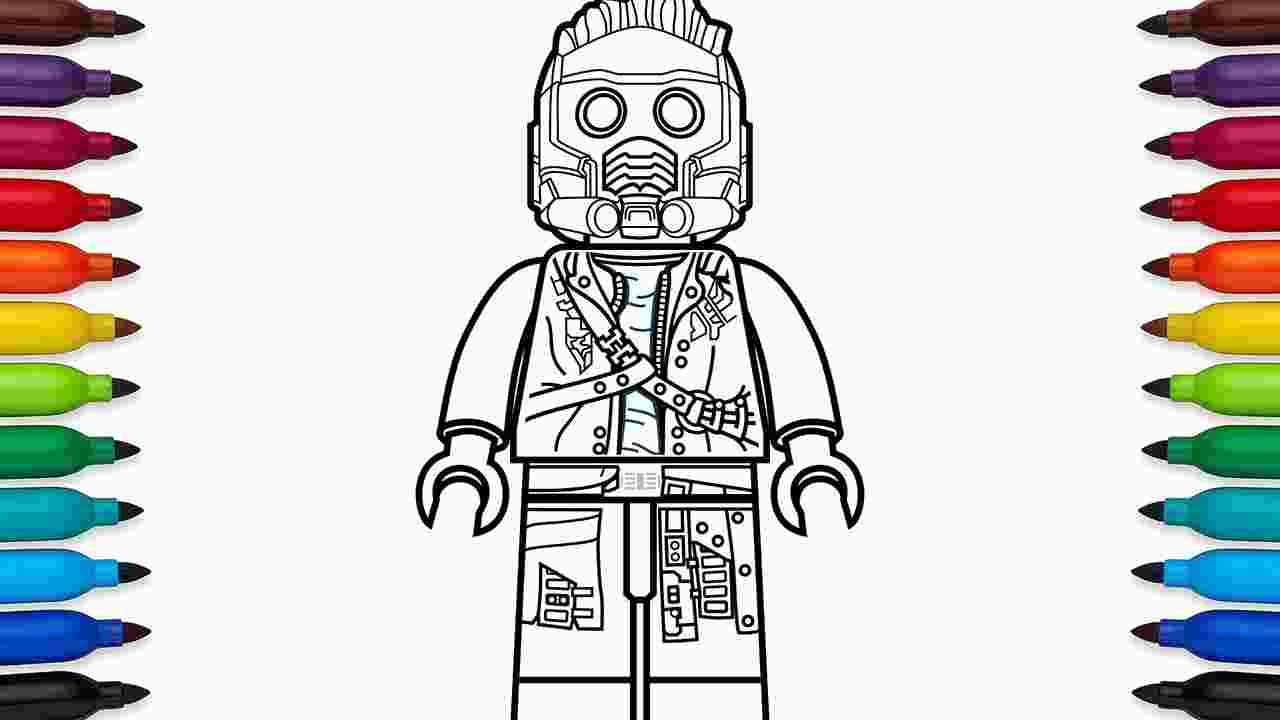Lego Star Lord Coloring Pages With Images Lego Coloring Pages