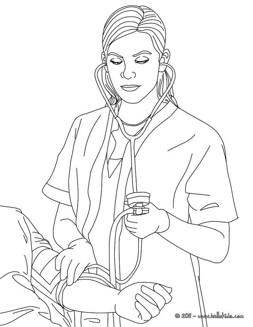 Pin By Priscilla Rich On Coloring Pages Drawing For Kids Nurse
