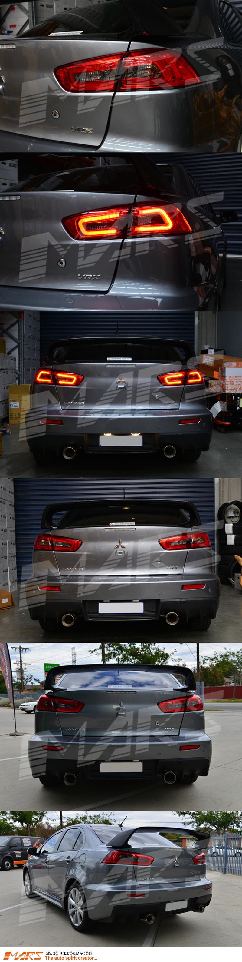 JDM Varis Smoked Red 3D LED Tail lights for Mitsubishi Lancer CJ & EVO X Sedan 07-15   Mars Performance