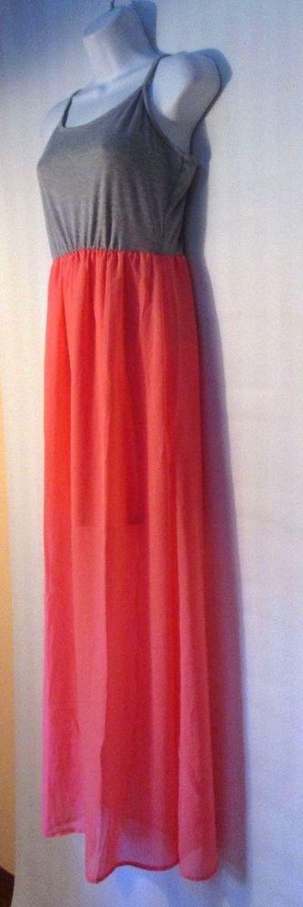ULTRA FLIRT, Peach and Grey Maxi Dress, Size XS #UltraFlirt #Maxi #Festive