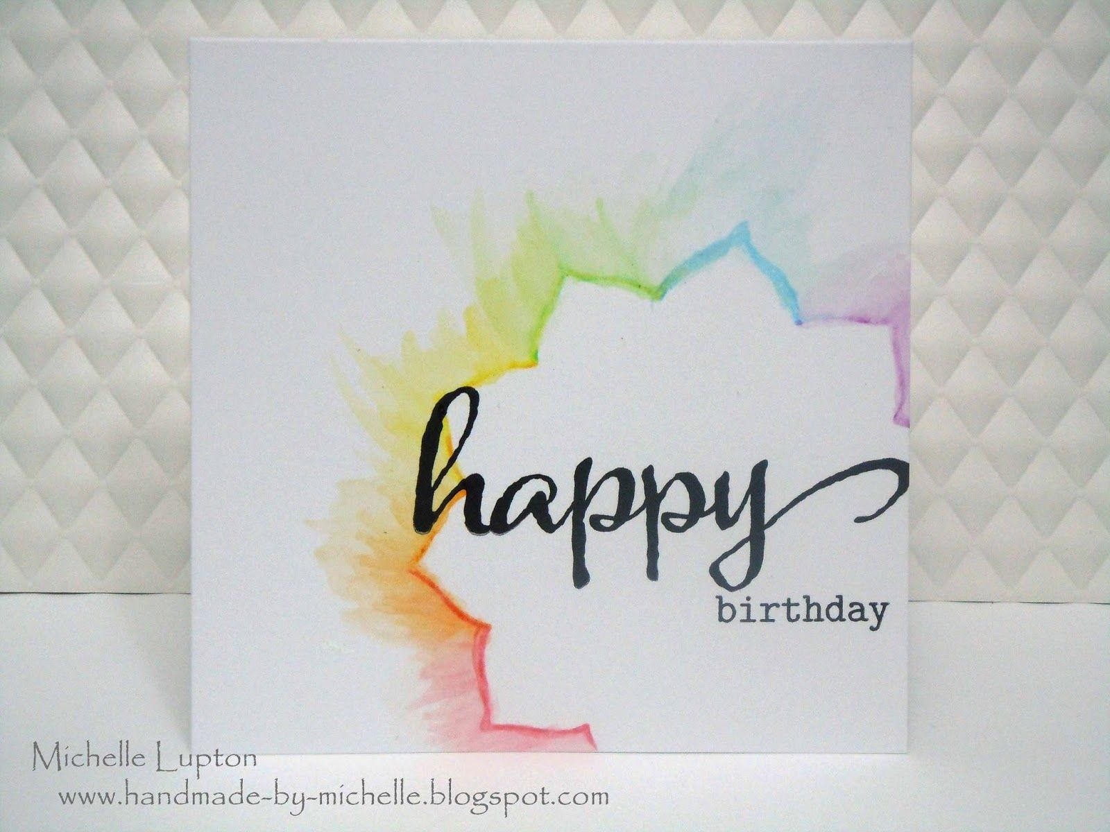 One Layer Rainbow With Images Birthday Card Drawing