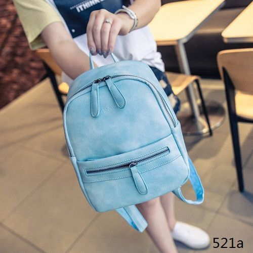 Miyahouse Korea Style Women Backpack Fashion Candy Color Mini Backpacks  Ladies Casual PU Leather Backpack Female Small Backpacks   Products    Pinterest ... 803adacd3f