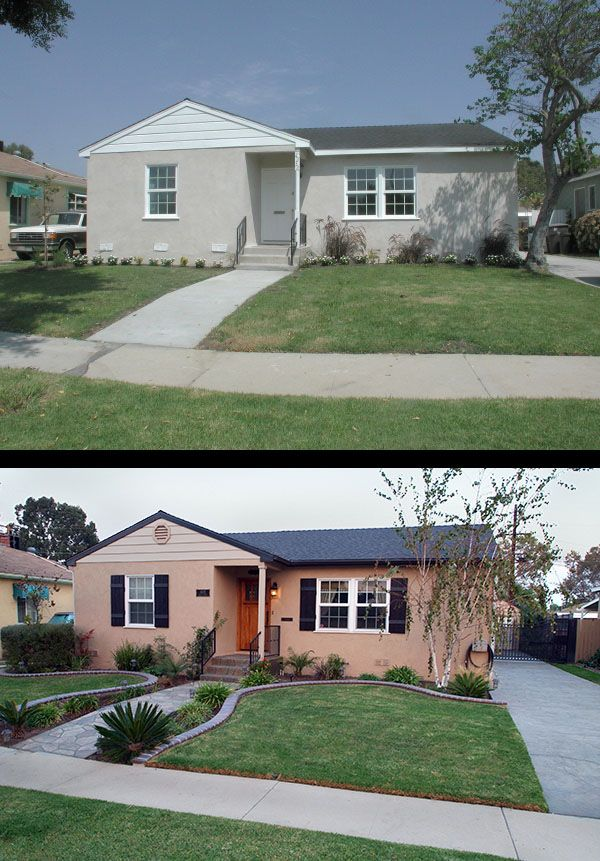 Before after photographer 39 s house for Redesign your home exterior