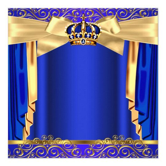 prince baby shower royal blue gold