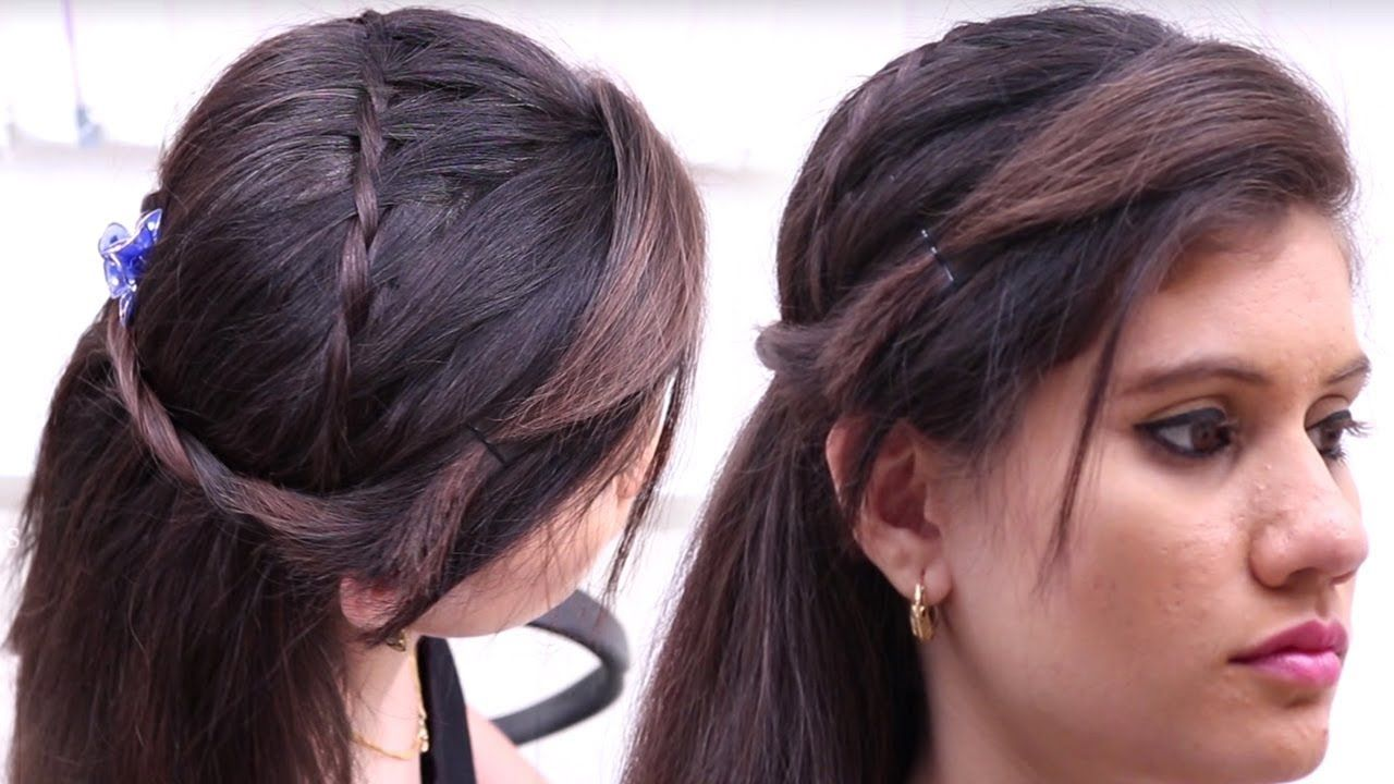 new side puff hairstyle || every day hairstyle || best