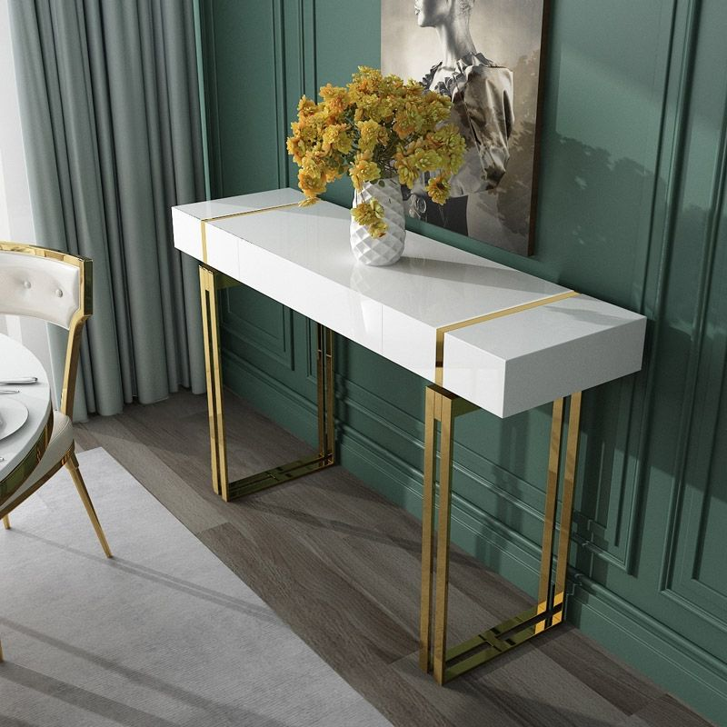 modern luxury white console table with drawer storage on small entryway console table decor ideas make a statement with your home s entryway id=15579