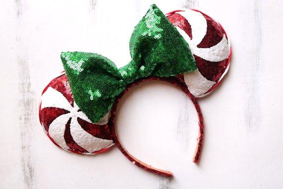 Disney Parks Gingerbread Christmas Holiday 2020 Mickey Minnie Ears Bow Headband