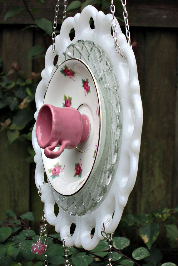 Sun Catcher-Dangle Pink Roses Garden Whimsy - As Featured In Valley Homes & Style Magazine