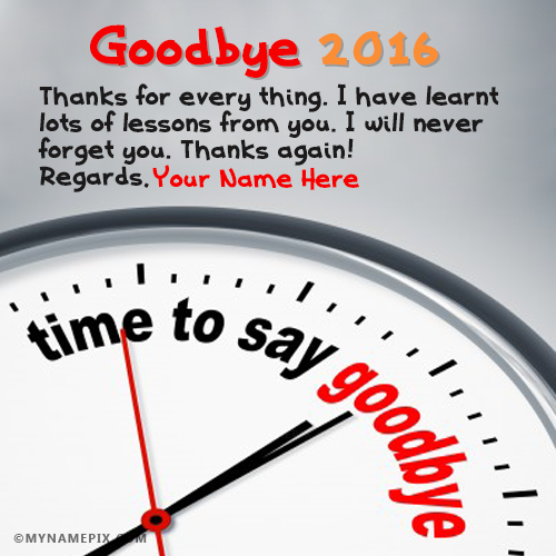 Goodbye 2016 New Years Countdown Wishes Therapy