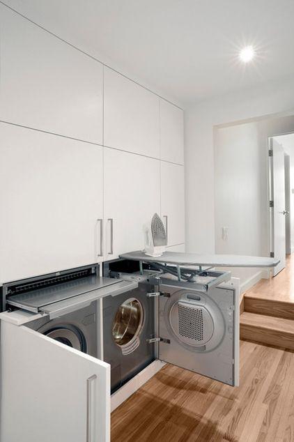 Very Zen What A Harmonious Sleek Laundry White Room Contemporary