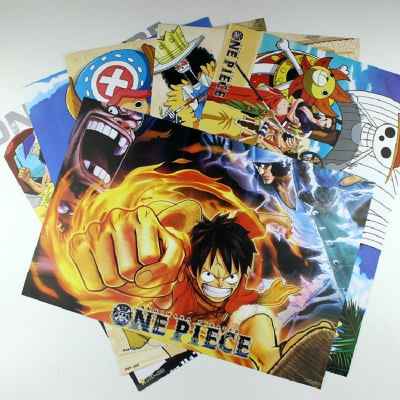 Good Quality 8 Pcs/set Different Designs Anime A3 Posters One Piece Luffy  Zoro Tony. Peindre Des MursImages MuralesUne ...