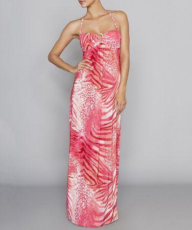 Another great find on #zulily! Dara Animal Dragon Halter Maxi Dress #zulilyfinds
