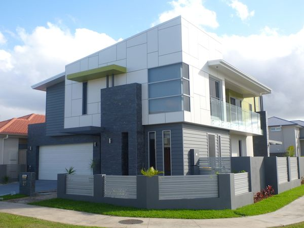 Weatherboard and cladding facade google search upside for Modern weatherboard home designs