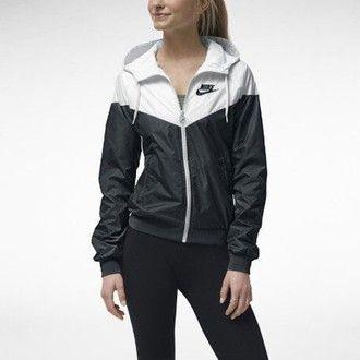 jacket nike windrunner jacket nike white black windbreaker cute coat black  and white nike jacket black and white xs women s windbreaker nike  windrunner nike ... e41e880ca