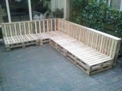 Afbeeldingsresultaat voor loungebank tuin zelf maken