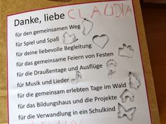 Gedicht Zum Abschied Vom Kindergarten Erzieherin Google