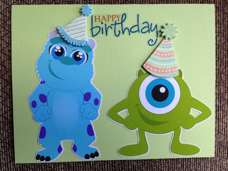 Handmade Birthday Card Happy Birthday From Monsters Etsy Handmade Birthday Cards Birthday Cards Happy Birthday