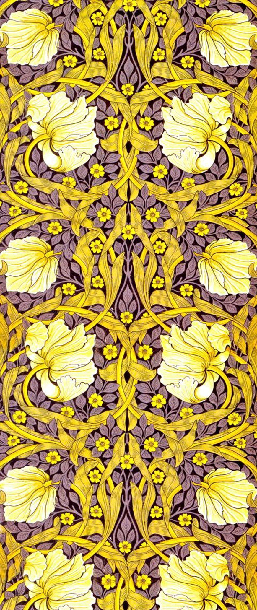 Purple & yellow   prints   Pinterest   William morris, Prints and ...