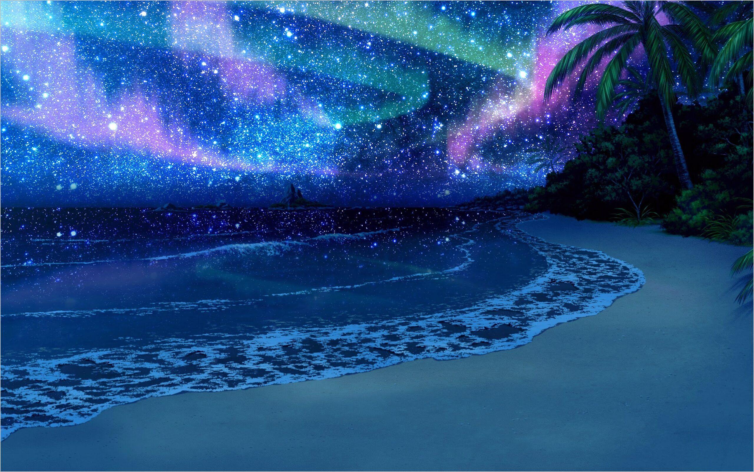 Beach An Night Wallpaper 4k In 2020 Anime Scenery Anime Background Anime Scenery Wallpaper
