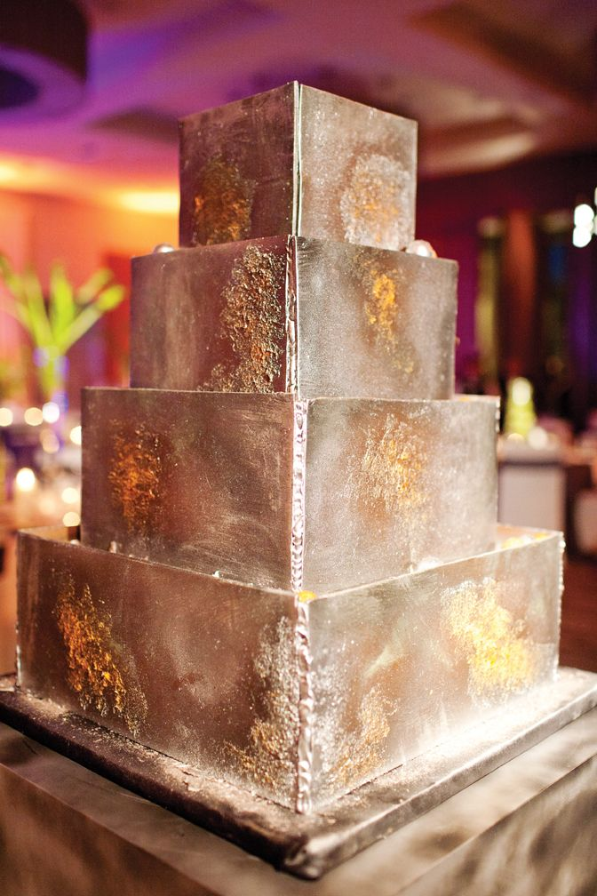 Wedding Cake That Looks Like Welded Metal Robert Umbower