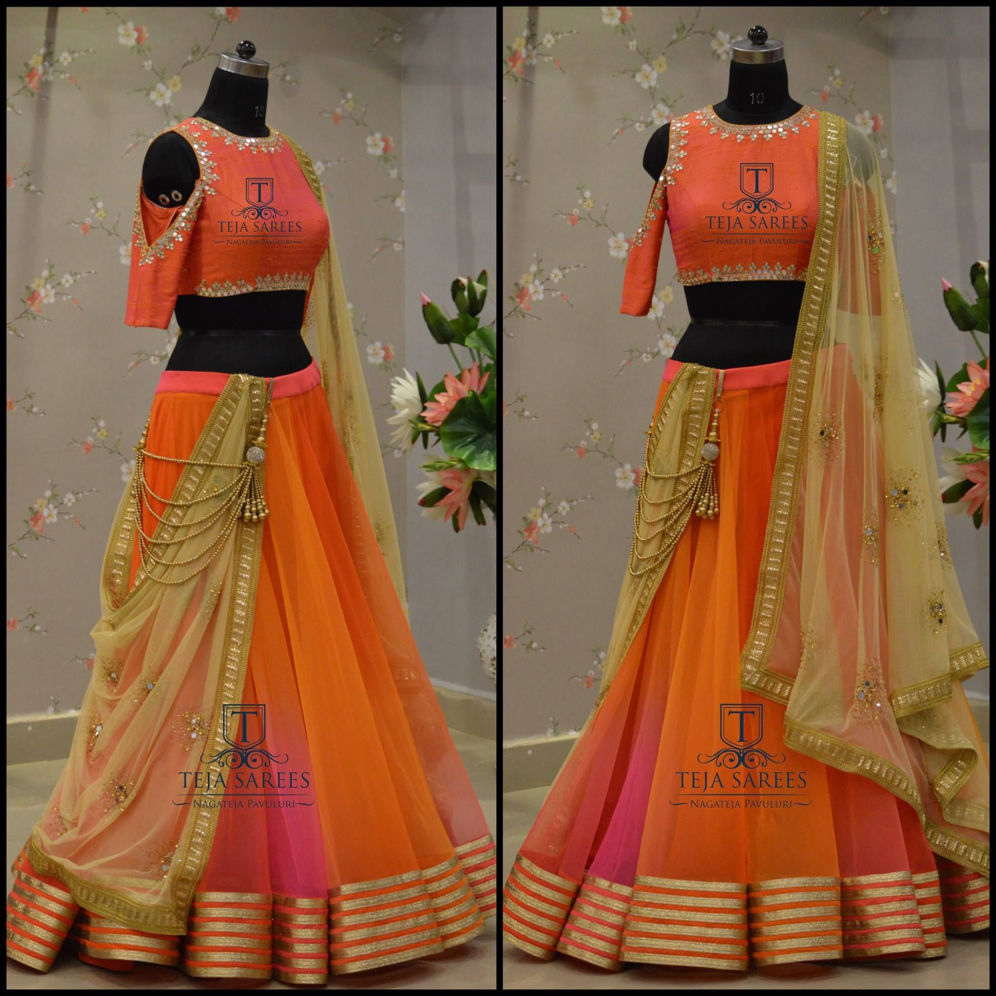 d7c785c3623182 Beautiful lehenga and cold shoulder blouse from Teja team.TS 2H7-201 ...