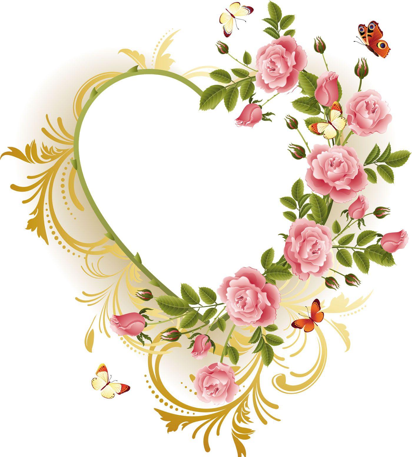 ハートマークの見本 ピンクのバラ ハート 機械刺繍デザイン ピンクのバラ ヴィンテージ刺繍