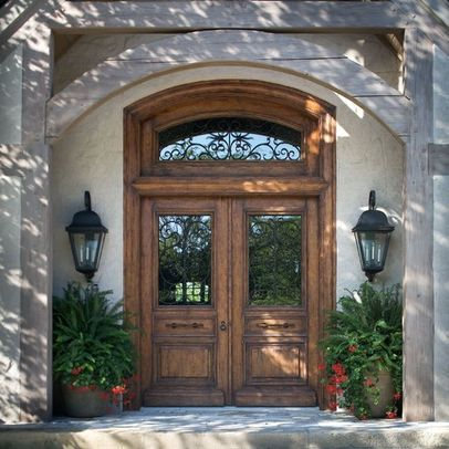 Double Front Doors Design Pictures Remodel Decor And
