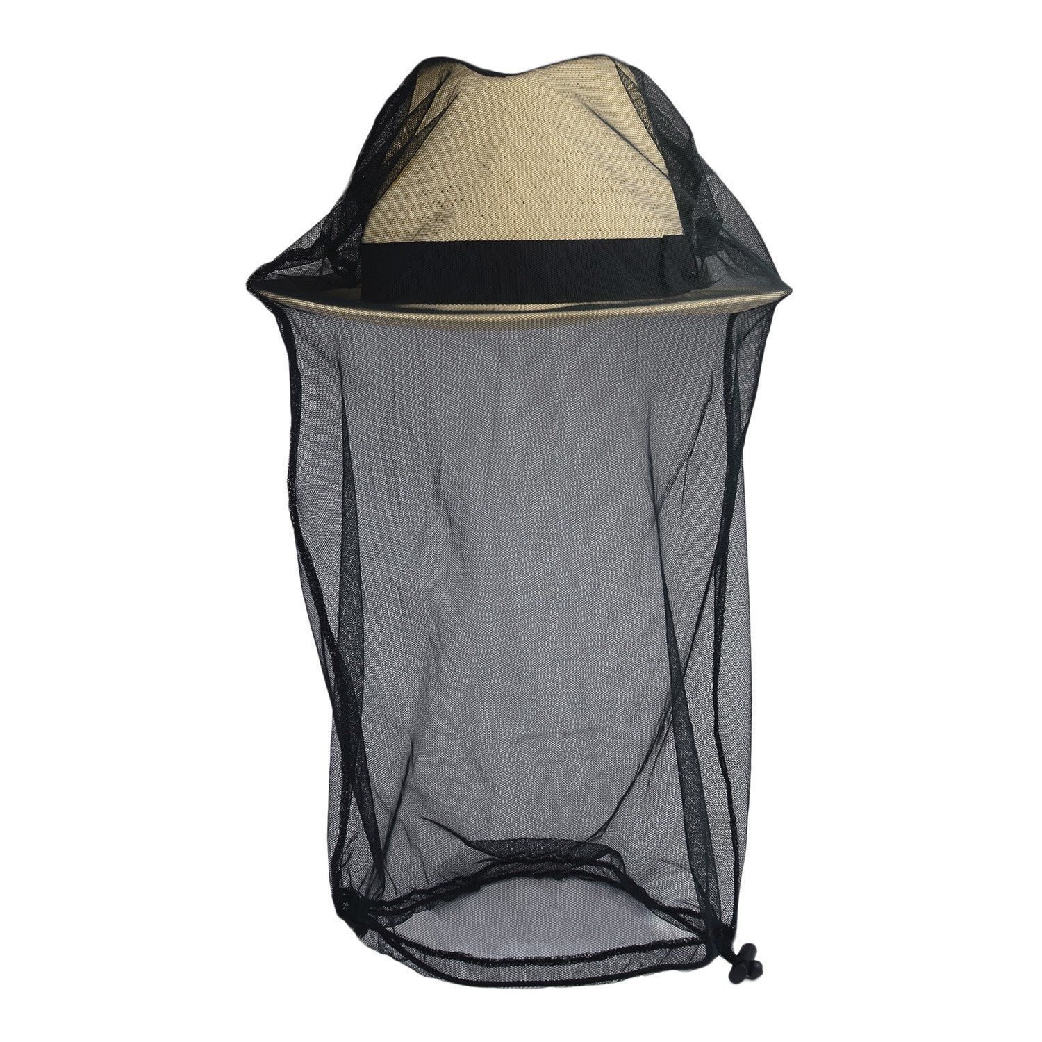 Flammi Mosquito Head Net Face Head Protection Insect Bug Net (Net/Veil Only) (Black / L)