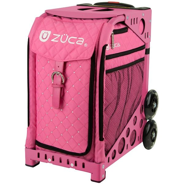 zuca sport hot pink quilted sit on rolling kit bag frame insert - Zuca Frame